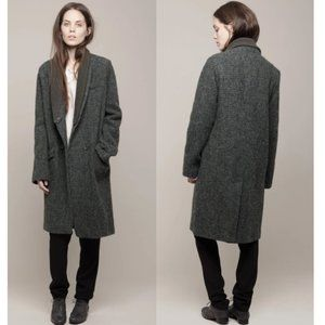VANESSA BRUNO $1200 Harris Tweed Coat 40
